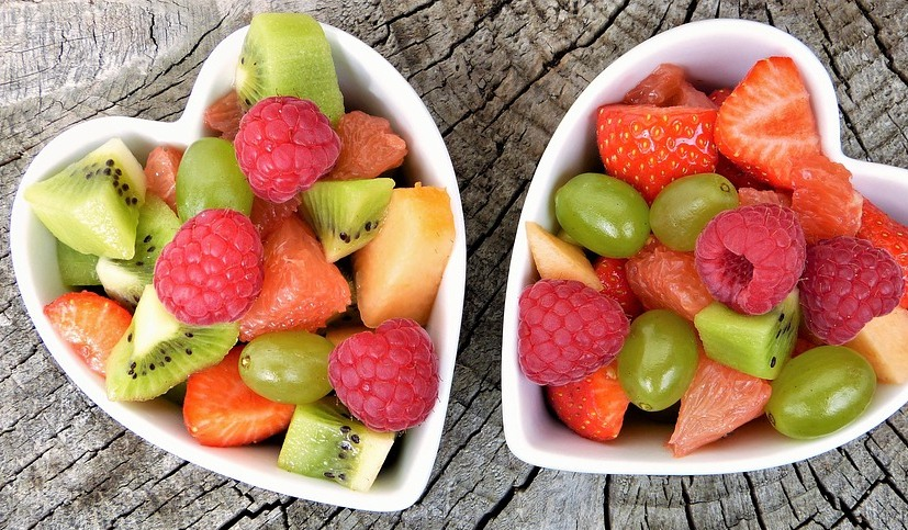 fruit salad as a oil free snacks
